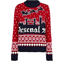 Arsenal Womens London Skyline Christmas Jumper