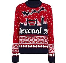 Arsenal Womens London Skyline Christmas Jumper
