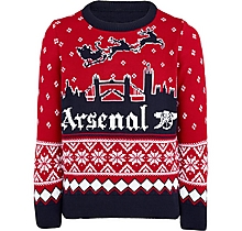 Arsenal Kids London Skyline Christmas Jumper