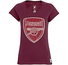 Arsenal Womens Rhinestone Crest T-Shirt