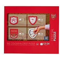 Arsenal Colour-In Crest Puzzle Set