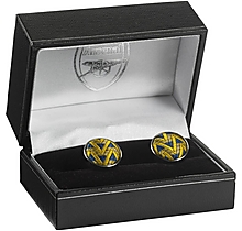 Arsenal Silk Thread Bruised Banana Cufflinks