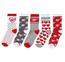 Arsenal Womens 5 Pack of Socks