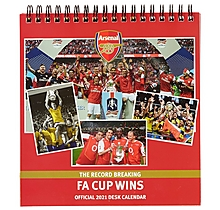 Arsenal 2021 Desk Calendar