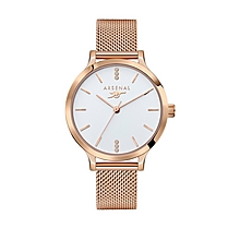 Arsenal Womens Rose Gold Watch