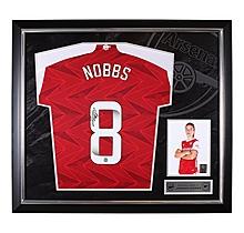 Arsenal Framed 20/21 Nobbs Signed Shirt
