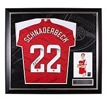 Arsenal Framed 20/21 Schnaderbeck Signed Shirt
