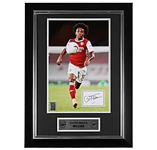 Arsenal Framed 20/21 Willian Signed Print