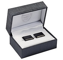 Arsenal Black IP Plate Crest Cufflinks