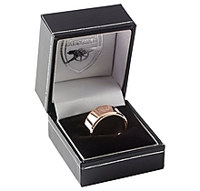 Arsenal Rose Gold IP Plated Crest Band Ring