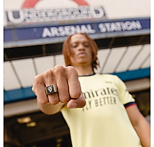 Arsenal Stainless Steel Crest Signet Ring