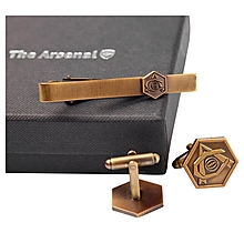 Arsenal Antique Heritage Tie Slide & Cufflink Set