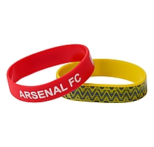 Arsenal Bruised Banana & Red Crest Wristbands