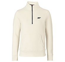 Arsenal Essentials Cream Zip Sweatshirt