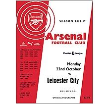 Arsenal v Leicester City 22.10.2018