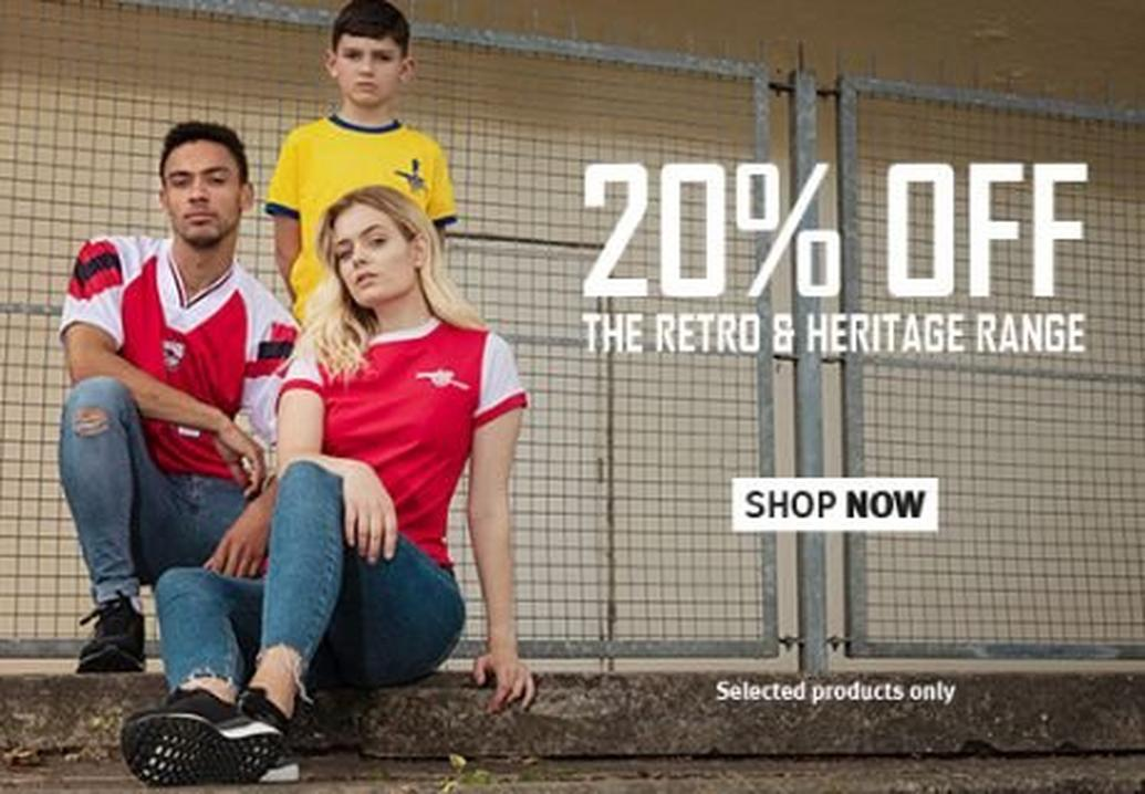 20% off the Arsenal retro range