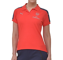 Arsenal Ladies Red Performance Polo Shirt
