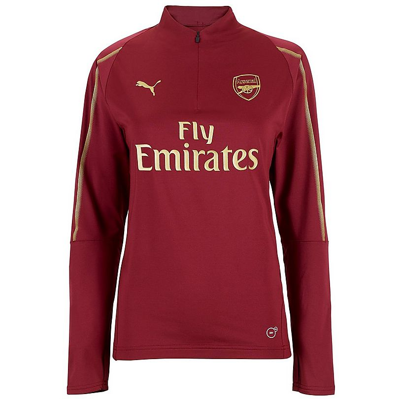 c7f00a5ab53 Arsenal Women s 18 19 Red 1 4 Zip Training Top