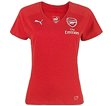 Arsenal Womens 18/19 Casual Performance Red T-Shirt