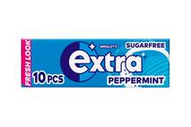 Wrigley's Extra Peppermint Chewing Gum Sugar Free 10 Pieces