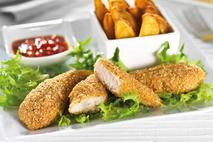 Green Gourmet Red Tractor Breaded  Southern Style Chicken Goujons 28g