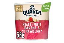 Quaker Oat So Simple Banana & Strawberry Porridge Pot 58g