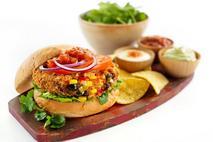 Fat Chef Flamin' Nacho Man Burger