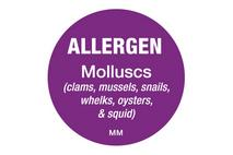 25mm Allergen Label Molluscs
