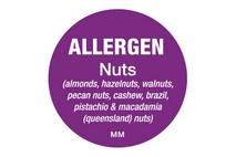25mm Allergen Label Nuts