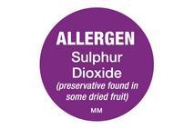 25mm Allergen Label Sulphur Dioxide