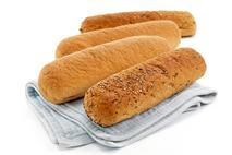 "La Boulangerie 9"" Gluten Free Sub Rolls Mixed Case, White & Multigrain"