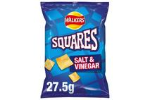 Walkers Squares Salt & Vinegar Snacks 27.5g