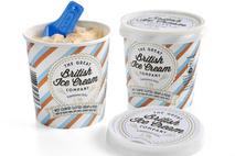 The Great British Ice Cream Co West Country Clotted Cream & Fudge Dairy Ice Cream Swirl