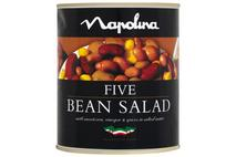 Napolina Five Bean Salad with Sweetcorn & Vinegar in Salted Water 800g