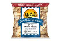 McCain Our Menu Signatures 5% Fat Skin on Wedges 2.5kg