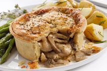 Toms Pies Chicken & Wild Mushroom Pie