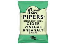 Pipers Burrow Hill Cider Vinegar & Sea Salt Crisps 40g