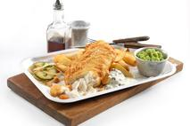 M&J Seafood Bistro Hand Battered MSC Cod Fillet  (skinless, boneless)