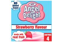 Angel Delight Strawberry Flavour No Added Sugar 47g