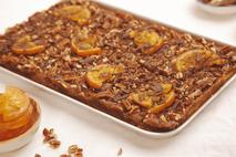 Honeybuns Vegan & Gluten Free Chocolate, Pecan and Caramel Traybake