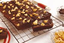 Honeybuns Vegan & Gluten Free Cinder Toffee Brownie Traybake