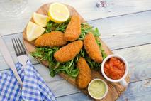 Green Gourmet Gluten Free Breaded BBQ MSC Fish Goujon