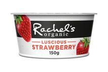 Rachel's Organic Luscious Strawberry Yoghurt