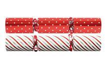 "Tom Smith Red & White Spots & Stripe Crackers 12"""