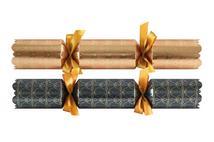 "Tom Smith Metallic Deco Crackers (rose & gunmetal) 14"""