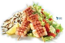 Chicken Souvlaki Wrapped in Bacon