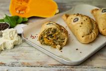 Phat Butternut Squash, Spinach and Vegan Feta Pasty