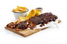 Cooked Rack of Pork Ribs