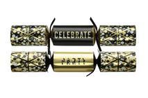 12'' Black & Gold Celebration Crackers