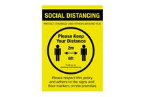 A3 Social Distancing Wall Poster